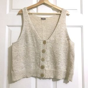 J. Jill Cardigan Sleeveless Sweaters Crop Vest
